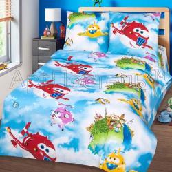 """Купить детское постельное белье из бязи """"Воздушный патруль"""""""