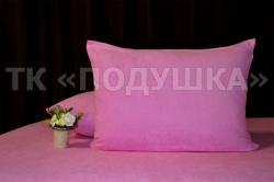 Купить розовые махровые наволочки на молнии в Челябинске