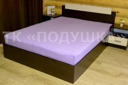 Купить фиолетовую махровую простынь на резинке в Челябинске